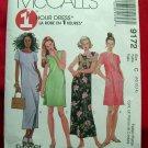McCalls Pattern # 9172 UNCUT Misses Dress in Two Lengths Size 10 12 14