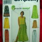 Simplicity Pattern #7513 UNCUT Misses Skirt Pants Size XS S M