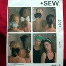 KWIK SEW Pattern #2037 UNCUT Misses Hair Accessories Headband Bows