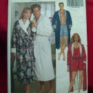 Butterick Pattern #5189 UNCUT Unisex Loungewear Robe Shorts Tank Top Size XS Small Medium
