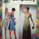 Simplicity Pattern # 9397 UNCUT Misses Dress Top Skirt Spaghetti Straps Size 6 8 10 12