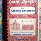 Guten Appetit Amana Kitchens Cookbook Iowa ~ Recipes Old and New