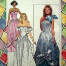 Butterick Pattern #4634 UNCUT Misses Wedding Evening Gown Costume Dress Size 6 8 10 Vintage 1987