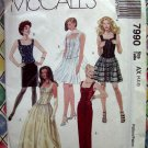 McCalls Pattern # 7990 UNCUT Misses Lined Top and Skirt Sizes 4 6 8 Corset Top