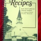 Lafayette Minnesota MN Lutheran Church Cookbook