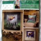Simplicity # 4741 UNCUT Quilt in a Day Christmas Angels Wall Quilt & Quilted Pillow