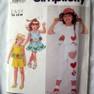 Simplicity Pattern # 7302 Girls/Child  Pants Shorts Skirt and Top Size 3 - 6X