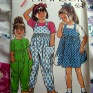 New Look Pattern # 6149 Girls Jumper Jumpsuit Overalls Size 1 2 3 4