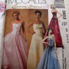 McCall's Evening Elegance Pattern #3853 UNCUT Gown Prom Dress Top Skirt Size 6 8 10 12