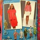 Simplicity Pattern # 2701 UNCUT Project Runway Jacket Skirt Size 12 14 16 18 20