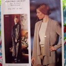 Rare Pattern Kimono Jacket UNCUT Designed by Loes Hinse Most Sizes