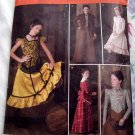 Simplicity Pattern # 2843 Girls Costume Little House Dress ~ Dance Hall Girl ~ Size 7 8 10 12 14