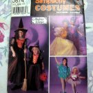 Simplicity Pattern # 0674 UNCUT Girl's Costume Witch Princess Sizes 2 4 6