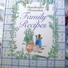 Grandma Remembers Blank Recipe Collection Cookbook