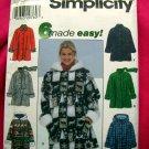 Simplicity Pattern # 7803 UNCUT Misses Jacket / A-Line Car Coat Size Large / XL