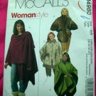 McCall's Pattern # 4980 UNCUT Woman's Cape /Wrap Plus Size 18 20 22 24