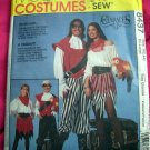 McCalls Pattern # 8437 UNCUT Adult Men Misses Costume Pirate & Sea Wench Size XL