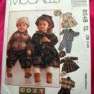 McCall's Pattern # 8548 UNCUT Toddler Jacket Pants Dress Cap/Hat Sizes 1 2 3