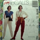 McCalls Pattern # 4476 UNCUT Misses Top Pants Size Small  10 12