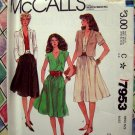 McCall's Pattern # 7953 UNCUT Misses Jacket & Dress Size 10