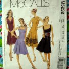 McCalls Pattern # 5232 UNCUT Misses / Petite Lined Summer Dress Size 6 8 10 12 14
