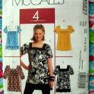 McCalls Pattern # 5627 UNCUT Misses/Misses Petite Tunic / Top Size 14 16 18 20