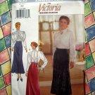 Butterick Pattern # 3150 UNCUT Misses Victoria Blouse Skirt Size 6 8 ~ Victoria Magazine