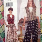 Butterick Pattern # 3253 UNCUT Misses Vest Top Skirt Pants Wardrobe Size 12 14 16