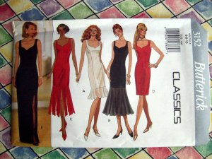 Butterick Pattern # 3152 UNCUT Misses Evening Cocktail Dress Size 6 8 10