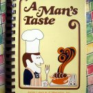 A Man's Taste Cookbook ~ Junior League Memphis Tennessee TN 1980