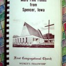 Vintage 1961 Spencer Iowa Church Cookbook IA First Congregational ~ Fine Foods ~
