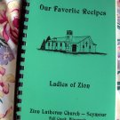 Fall Creek Wisconsin Zion Lutheran Church Cookbook 1980's