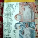 Simplicity Pattern # 2457 UNCUT Baby Christening Wardrobe Gown Romper Sizes XXS SX S M