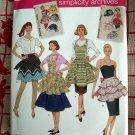 Simplicity Pattern NEW UNCUT # 2592 Reto Vintage Apron Size Small Medium Large