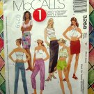 McCall's Pattern # 3268 UNCUT Misses XS Small Low Rise Pants Skirt Size 4 6