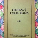 Vintage Chippewa Falls Wisconsin Cookbook Lutheran Church ~ Norwegian Recipes too!