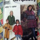 Simplicity Pattern # 8299 UNCUT Misses Jacket / Coat Size Large  XL