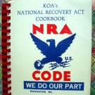 Vintage 1988 KOA's National Recovery Act Cookbook ~ Clear Creek Colorado CO