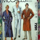 Vintage McCall's Pattern # 7291 UNCUT Men's Size SMALL Robe Pajamas