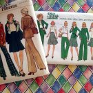 Two Vintage Pattern Simplicity 7070 & Vogue 8752 Misses Size 10 Pants Jacket Skirt