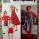 Simplicity Pattern #8564 UNCUT Girls Chubbies Jumper Shorts Top STRETCH KNITS ONLY Size 7 8 10 12 14