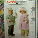 Burda Pattern # 9776 UNCUT Toddler Boys/Girls Coat Jacket Hat Size 9M 12M 18M 2 3