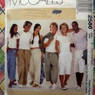 McCalls Pattern # 2586 UNCUT Unisex Drawstring Pants 3 Lengths Size XS S M