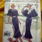 Simplicity Pattern # 9360 UNCUT Retro 1920s Caplet Dress Flutter Sleeves Size 6 8 10 12