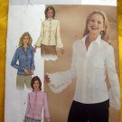 Butterick Pattern # 3969 UNCUT Misses Blouse Size 12 14 16 Ruffled Sleeves
