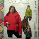 McCalls Pattern # 4974 UNCUT Misses Lined Fleece Jacket Size 14 16 18 20