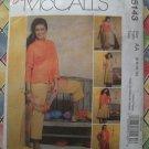 Easy McCalls Pattern # 5143 UNCUT Misses Jacket Top Skirt Pants Size 6 8 10 12