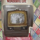 It's a Wonderful Life Rare Ornament ~TV SET NIB George, Mary and Zuzu