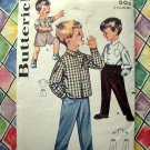 Vintage 1960's Butterick Pattern # 2122 UNCUT Boy's Shirt Pants Size 8