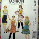McCalls Pattern # 6177 UNCUT 5 Apron Styles Size 8 10 12 14 16